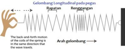 Gelombang Longitudinal pada pegas