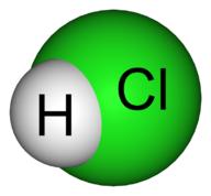 molekul asam klorida