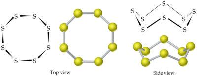 contoh Alotrop belerang s8