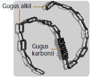 Posisi gugus karbonil