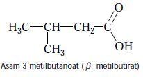 Asam-3-metilbutanoat (β –metilbutirat)