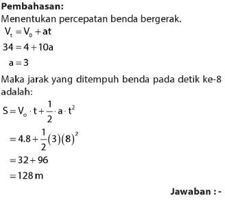 Soal dan jawaban kinematika gerak GLBB 3