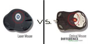 Perbedaan mouse laser dan optik