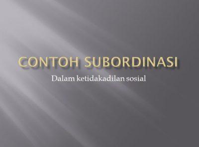 Contoh Subordinasi 2