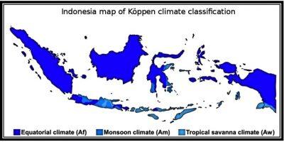 Jenis dan Persebaran Iklim Koppen di Indonesia