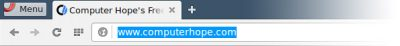 Opera address bar